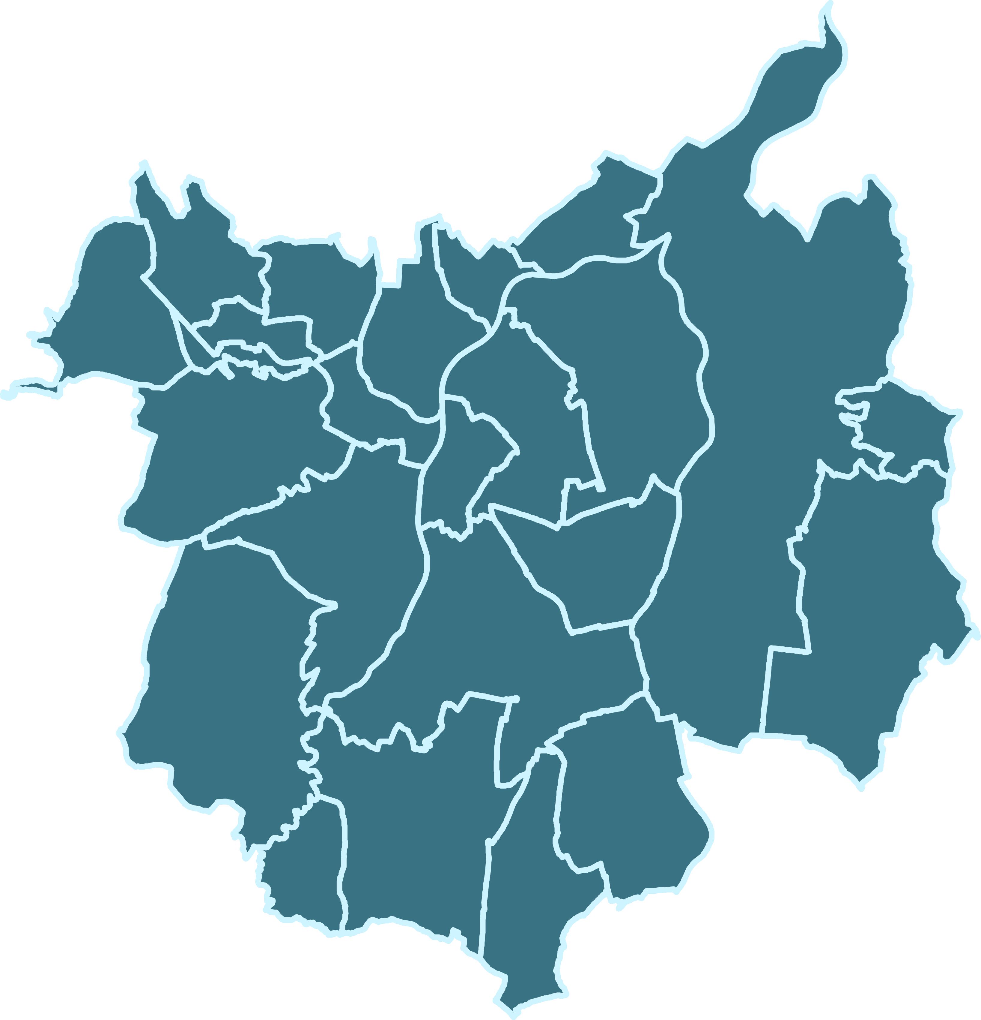 Schématická mapa Ostravy