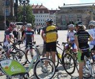 O řešení bikesharingu se členové vedení města zajímali i při loňské sportovní návštěvě partnerského města Drážďany.