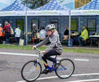 Čistý areál projektu Ostravou na akci mladých cyklistů.